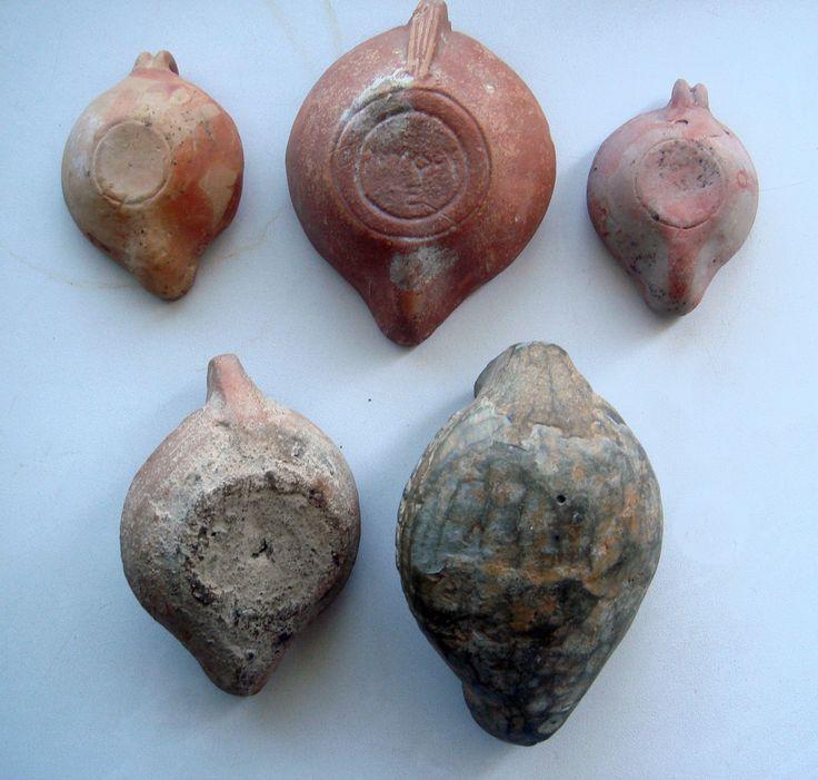 Коллекция античных осветительных масляных ламп 5 шт. (Причерноморье и Римская империя).