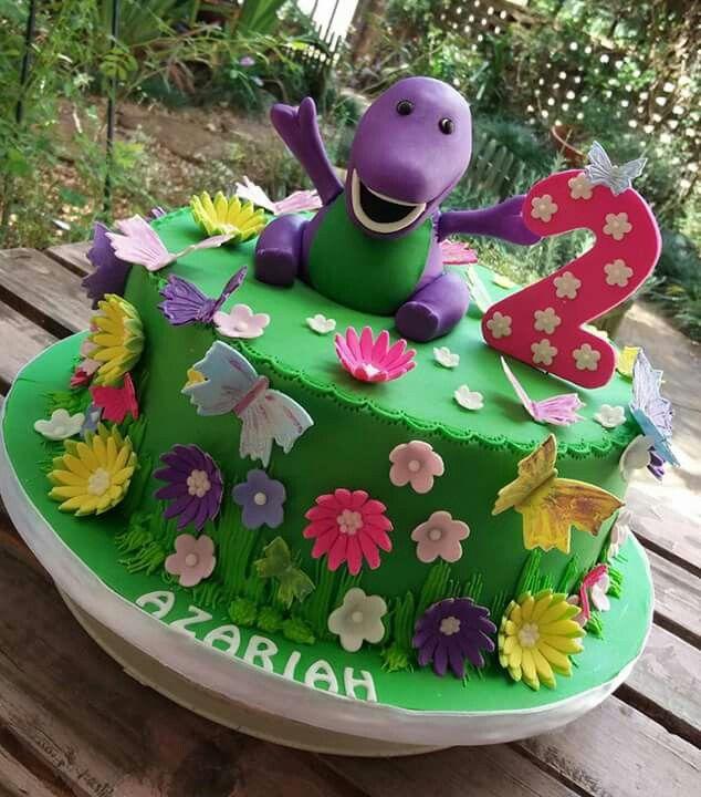 Barney novelty cake