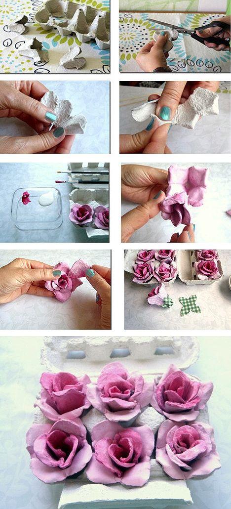 diy egg carton to roses 8 best