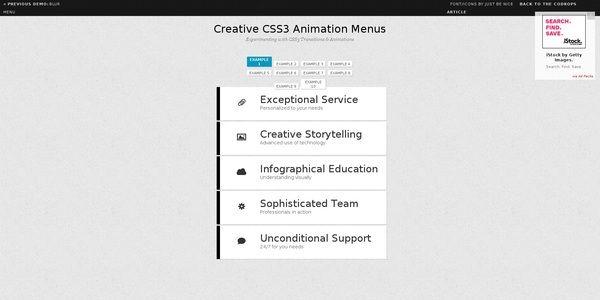 20 tutoriels pour créer un menu original avec HTML 5 et CSS 3 | BlogDuWebdesign
