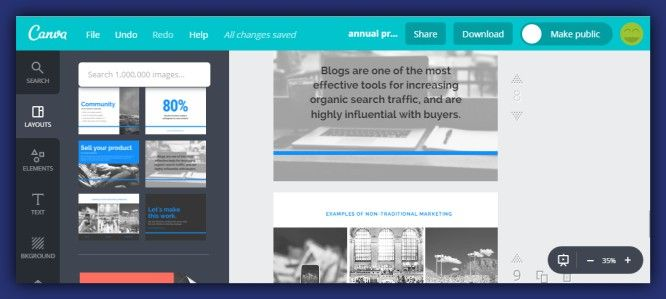 Canva team announced an update.It is a presentation's layout with many free designs to choose from.The results are always professional with this easy to use app
