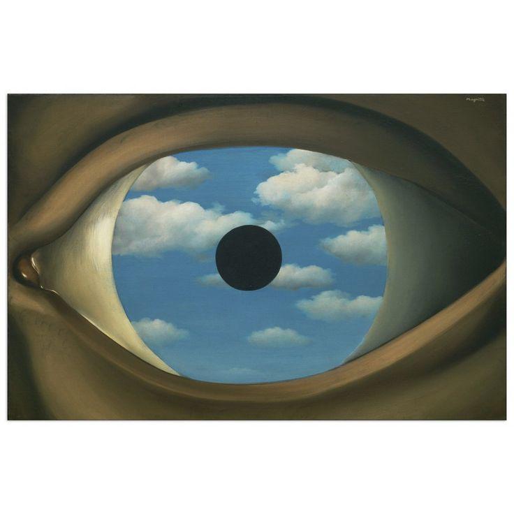 MAGRITTE - The false mirror 80x52 cm #artprints #interior #design #art #print #Magritte  Scopri Descrizione e Prezzo http://www.artopweb.com/EC21691