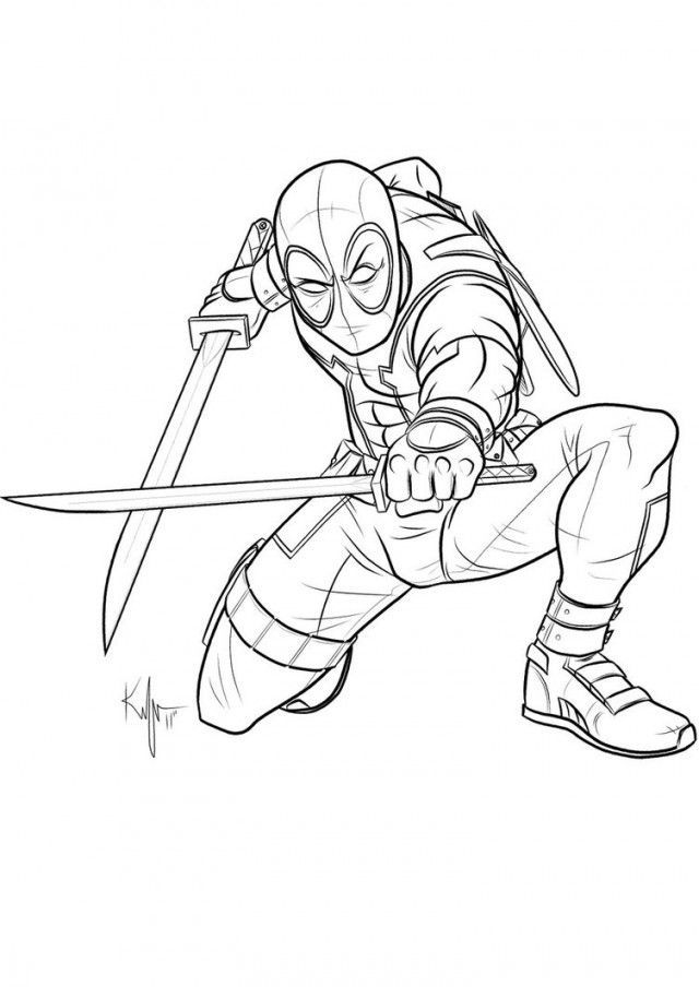 Download Or Print This Amazing Coloring Page Uncanny Deadpool By Kaufee On Deviantart 211170 Deadpool Coloring Deadpool Drawing Coloring Pages Free Clip Art