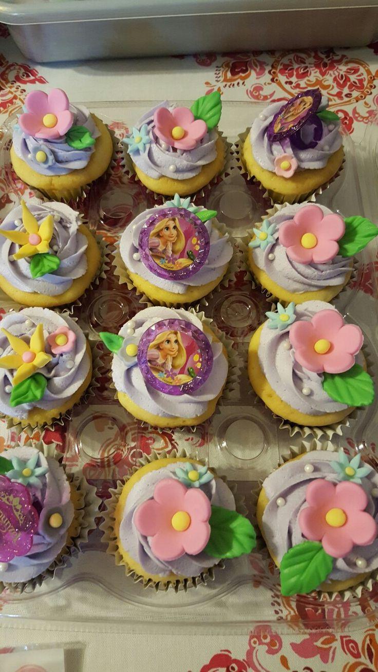 Rapunzel cup cakes
