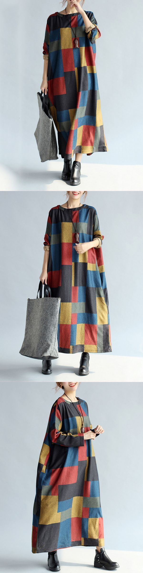 Plaid loose casual long sleeve women maxi dress casual dresses house of fraser #70s #casual #dresses #casual #dresses #chiffon #casual #dresses #john #lewis #casual #dresses #kolaaj