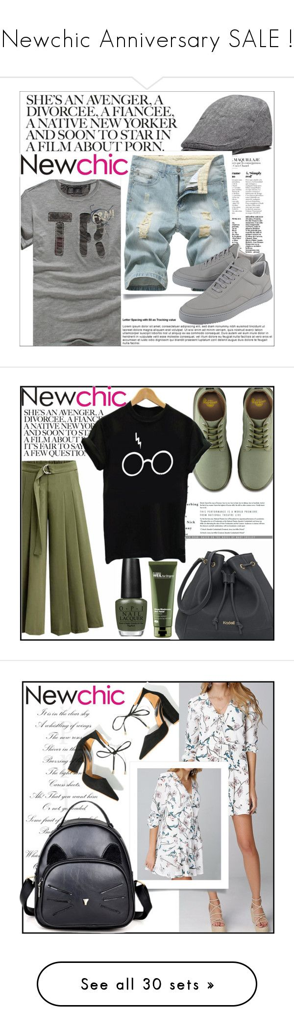 """""""Newchic Anniversary SALE !"""" by amilaaaas ❤ liked on Polyvore featuring Filling Pieces, men's fashion, menswear, Dr. Martens, OPI, Origins, NIKE, A.L.C., Daniel Wellington and Alexis"""