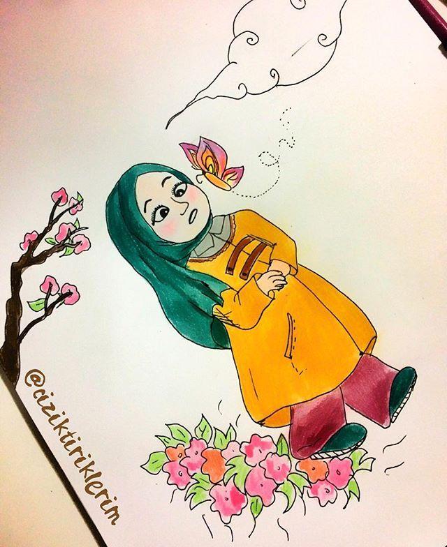 Bahar gelse de, tırtıllar kelebek olsa.  #illustration #illustrator #illüstrasyon #çizim #çizimim #resim #resimler #çizimlerim #myart #drawing #sketching #art #instaart #instadraw #watercolor #painting  #music #instaartist #art #artoftheday #artgram #muslim #hijab  #bahar #cizgisizkagitlar #kelebek #butterfly #spring #flowers  #ciziktiriklerim  #turkishprodrawers