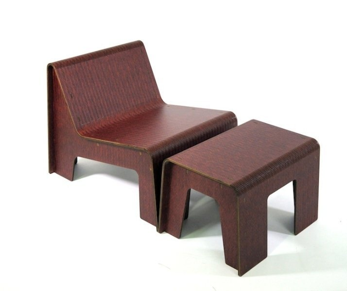 easy chair and table,made in italy, fuorisalone2013, laser cut, wood, wooden chair, cool chair, design chair, furniture