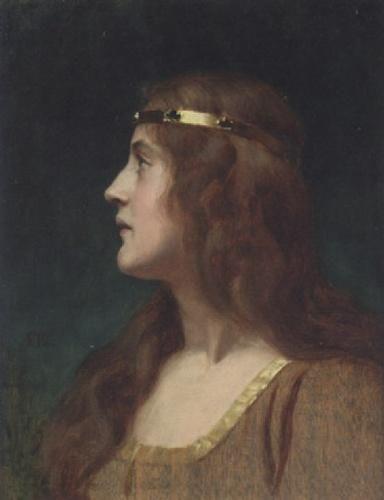 Edmund Blair Leighton British, 1852 - 1922   A Medieval Beauty