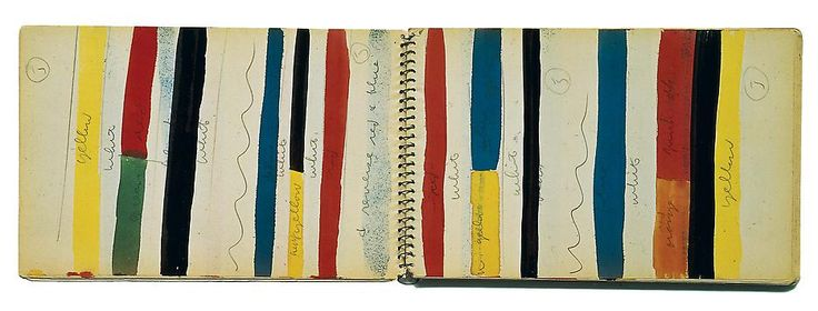 Ellsworth Kelly Sketchbook #17 November 1951 - May 1952 Spiral-bound 84 sheets Ink, watercolor, graphite and collage on paper 8 1/4 x ...