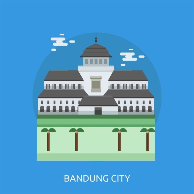 Bandung City Conceptual Illustration Design Bandung City Conceptual Illustration City