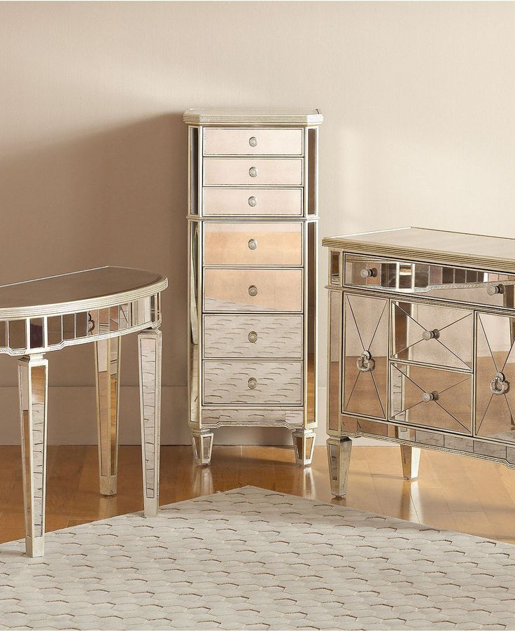 Mirrored Furniture Bedroom: Marais Accent Furniture Collection, Mirrored