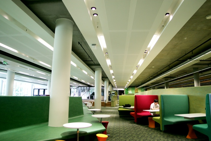 Perforated Plasterboard Panels in a University Library Sydney Australia