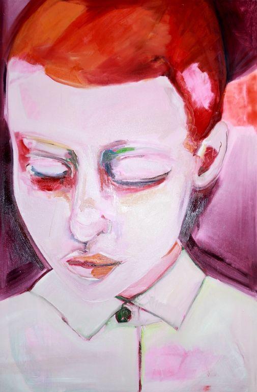 "Saatchi Online Artist: Patricia Derks; Oil, 2012, Painting ""Orange"""