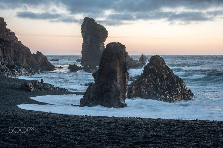 djupalonsandur - a famouse cove on the peninsula of snaefellsness on the foot of the snaefellsjökull https://en.wikipedia.org/wiki/Dj%C3%BApal%C3%B3nssandur