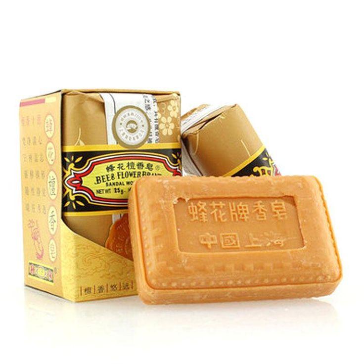 25g/0,88 unze Biene und Blume Marke Chinesische Sandelholz Seife Mini Reise Paket Drop verschiffen Z2