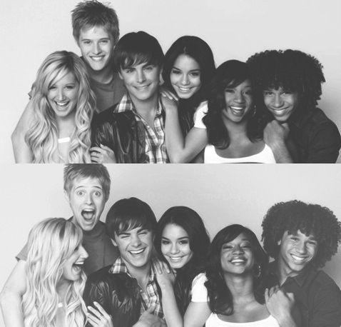 High School Musical cast: Ashley Tisdale, Lucas Grabeel, Zac Efron, Vanessa Hudgens, Monique Coleman, and Corbin Bleu.