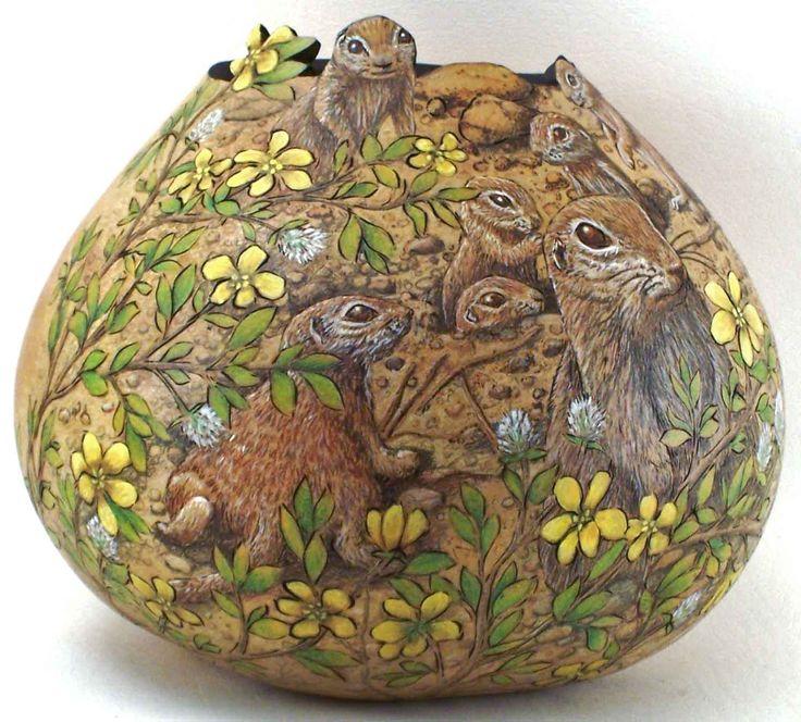 Gourd Art: Group Smal Mammals