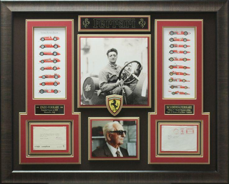 Signature Royale - Enzo Ferrari Signed Note Ferrari Collage Display., $3,249.95 (http://www.signatureroyale.com/enzo-ferrari-signed-note-ferrari-collage-display/)