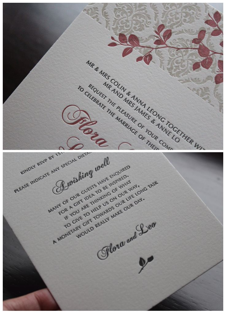 small wedding ceremony invitations%0A Wedding Invitations  Letterpress printed on      Cotton Stock  By The  Hunter Press