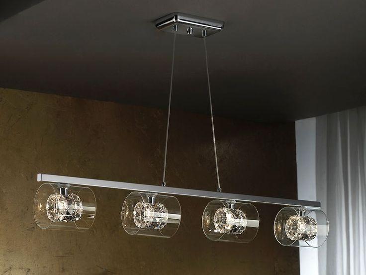 Moderne lampe mde 4 lys fra kolleksjon FLASH horisontal. Dekorative Lamper, din komplette nettside av belysning og moderne lamper. (bilde 1)