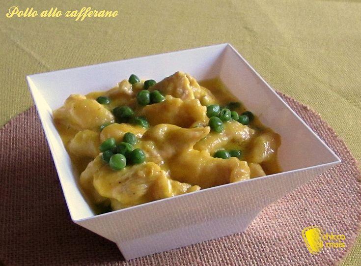 #Pollo allo #zafferano con #piselli #ricetta  #Chicken with #saffron and #peas #recipe #foodporn #chiccodimais http://blog.giallozafferano.it/ilchiccodimais/bocconcini-di-pollo-allo-zafferano-con-piselli-ricetta-secondo/