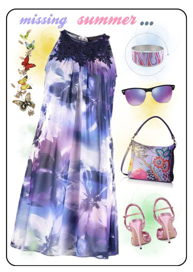 Missing summer... by amisha73 on Polyvore featuring polyvore, fashion, style, Gucci, Anuschka, Ray-Ban, Ice, Dorothy Perkins and clothing