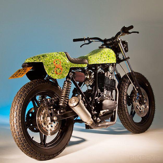 Honda FT500 custom - paint by Death Spary Custom