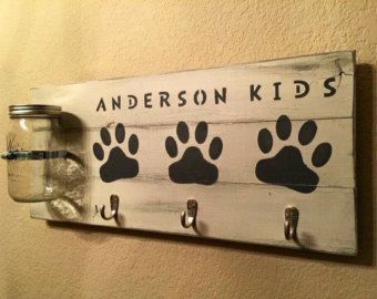 Large Dog Treat Holder  Dog Leash Holder  Dog by RuffRuffCreations