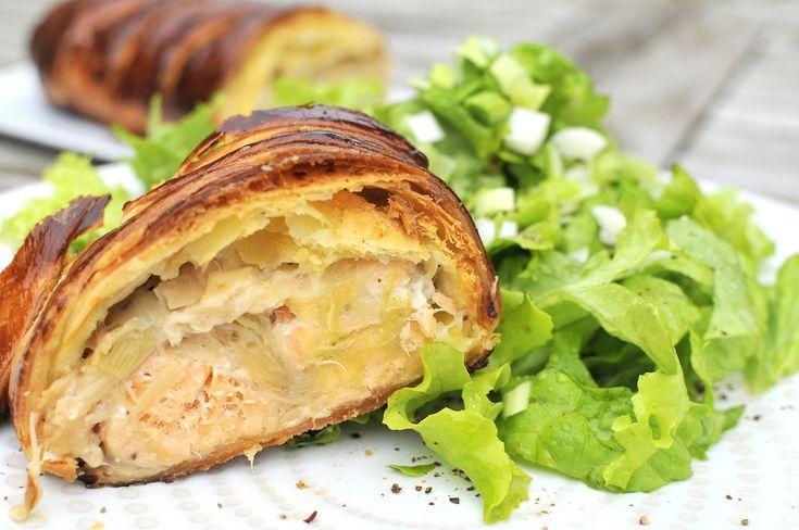 Feuilleté de saumon aux poireaux...by korinne et façon WeightWatchers