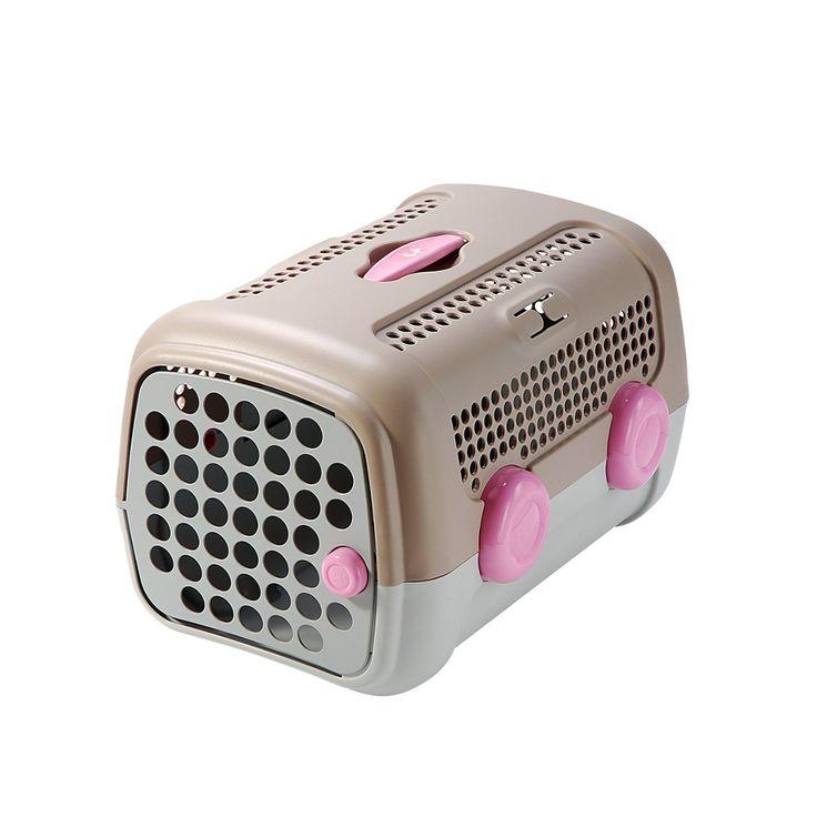 Caixa de Transporte United Pets - Cinza e Rosa. #caixa #transporte#caixadetransporte #caixaparacachorro#caixadetransporteparacachorro #mps #petmeupet #cachorro #viagem #leveseupet #promocao #desconto