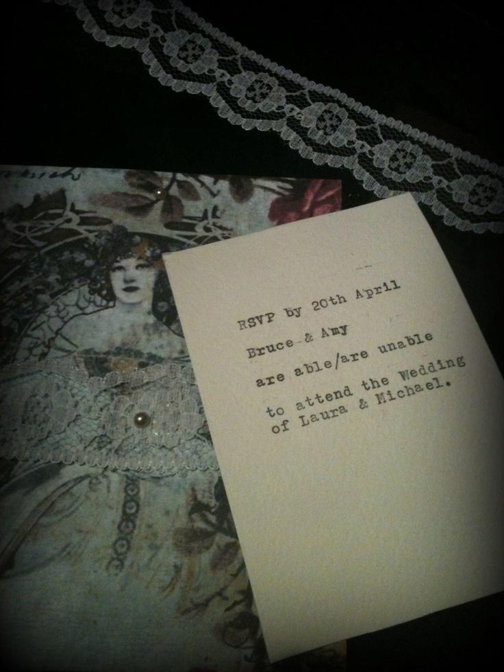 wedding invitations from michaels crafts%0A vintage romance wedding stationery http   www facebook com sugarhandmade