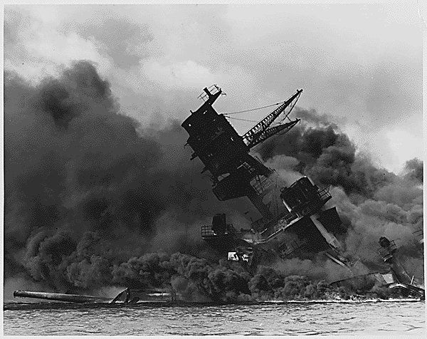 Interactive map of the attack on Pearl Harbor from National Geographic