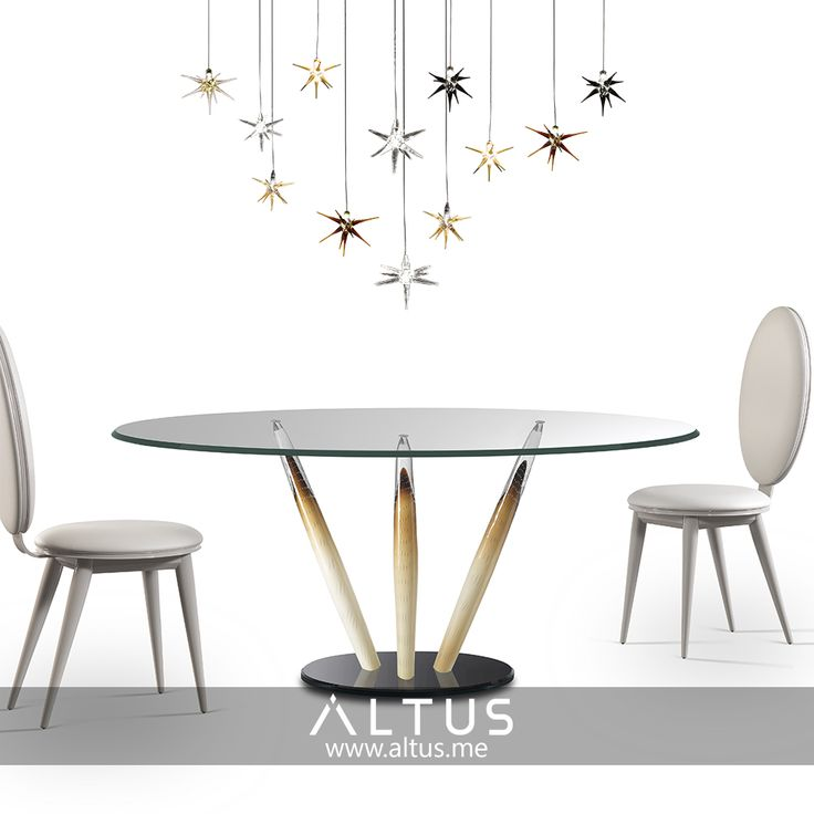 Ca' d'oro 72 table from Reflex, made in Italy. www.Altus.me #luxury #furniture #table #dining #art #murano #glass #madeinitaly #design #designer