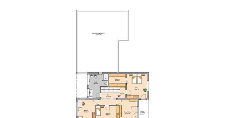 Kern-Haus Bauhaus Ixeo Grundriss Obergeschoss