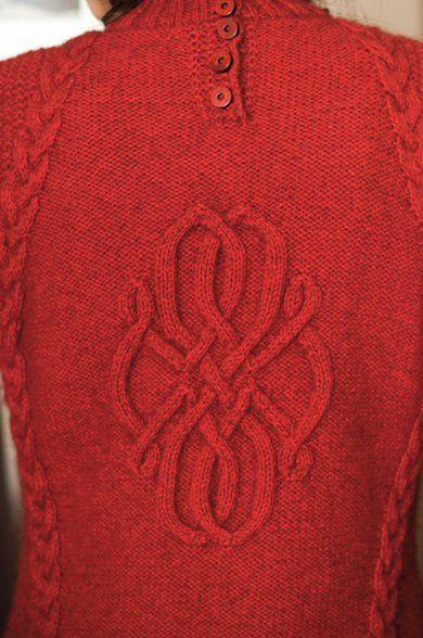 Design Detail   Vogue Knitting, central cable motif