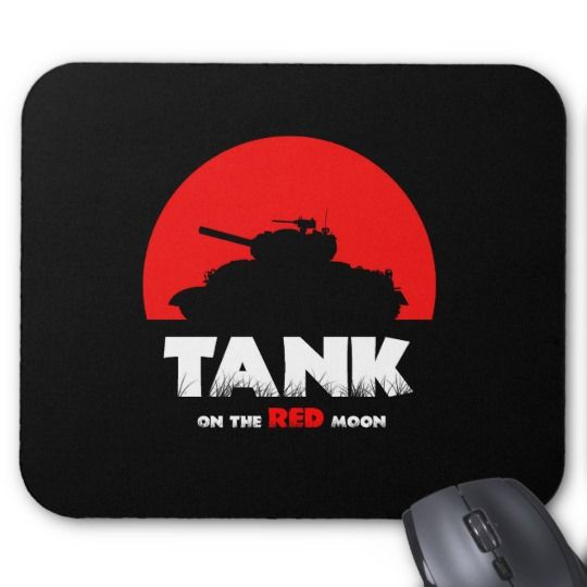 Red Moon Tank Mousepad