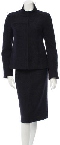 Costume National Textured Skirt Suit