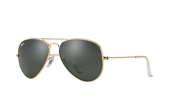 Ray-Ban RB3025 L0205  58-14 Aviator Classic  Sunglasses | Ray-Ban USA Gold Frame With Polarized Gold Lenses