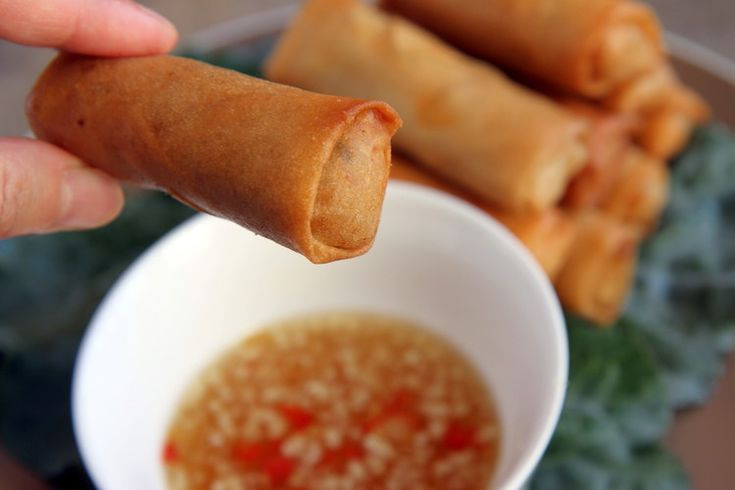 Enjoy with prepared fish sauce dipping sauce