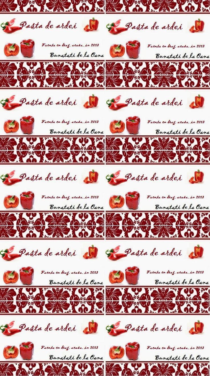 Etichete borcane - pasta de ardei rosu