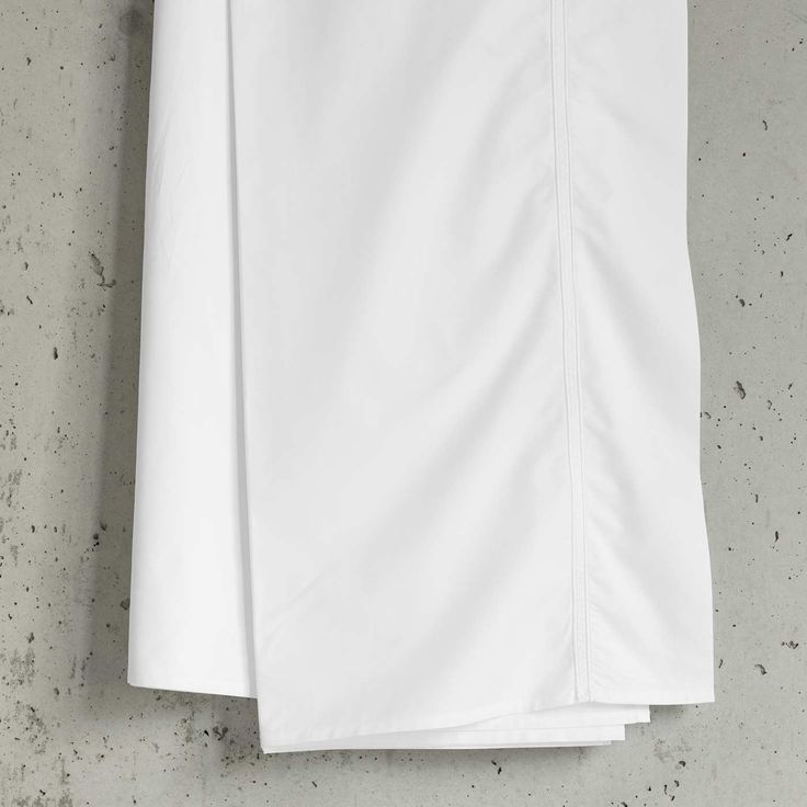Simple white Classico pillowcases.