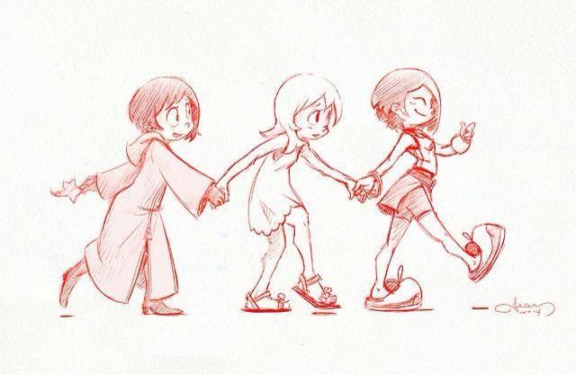 Xion, Namine, & Kairi