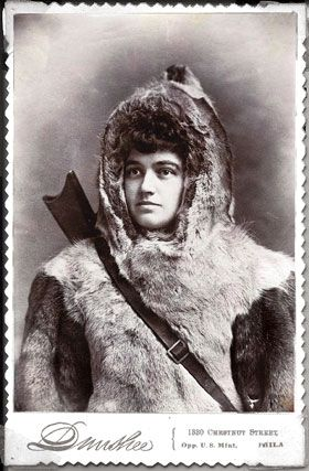 """First woman Arctic explorer, Josephine Peary, wife of Robert Peary, was a First Lady of the Arctic, """"Mother of the Snow Baby,""""  and a veteran of half a dozen polar expeditions who'd outlived her husband by three decades."""