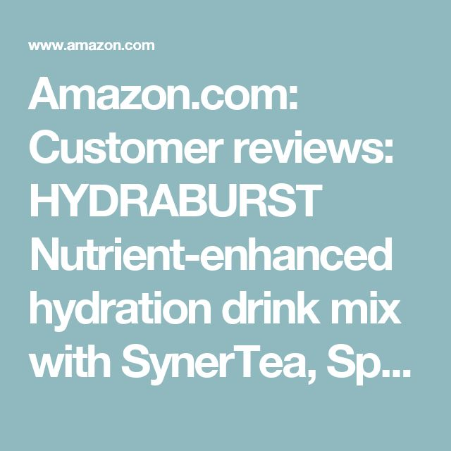 Amazon.com: Customer reviews: HYDRABURST Nutrient-enhanced hydration drink mix with SynerTea, Spectra, Extramel. 55 powerful nutrients, Antioxidants, Electrolytes.[hydration drink powder] Sugar FREE Only 5 Calories per Serving
