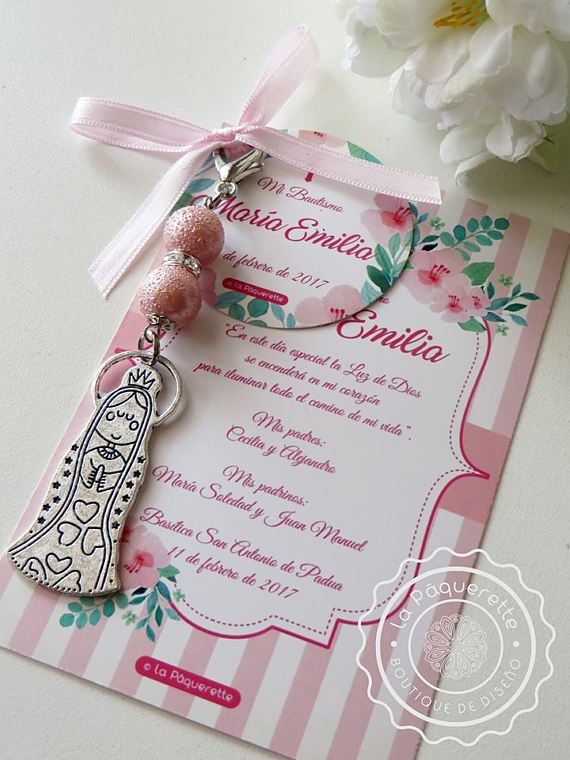 Baptism and First Communion favors  Favor card with religious
