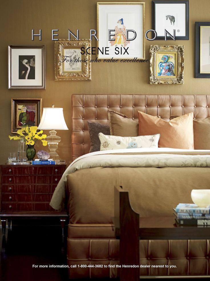 Henredon Leather Company Bed Scene Six