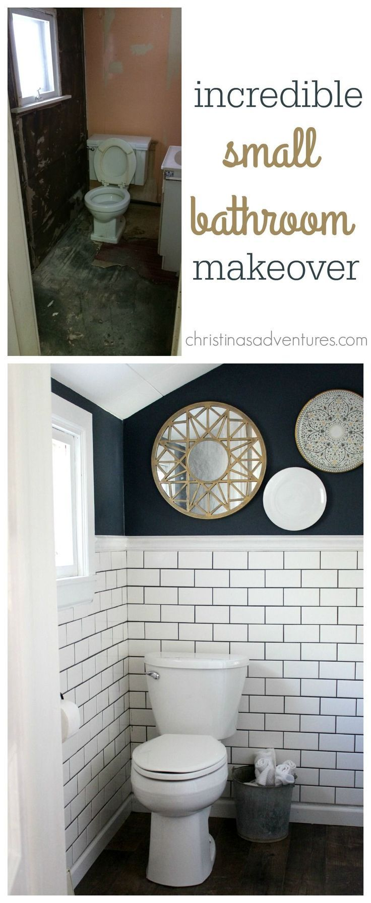 small bathroom makeover bathroom makeover remodel small rh pinterest com