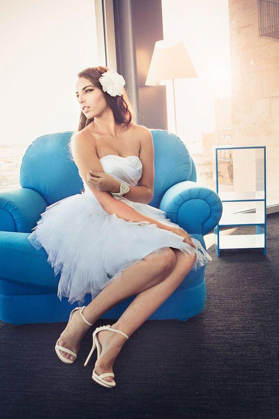 Jolie  kurze Hochzeitskleid  Rezeption von TheLittleWhiteDress