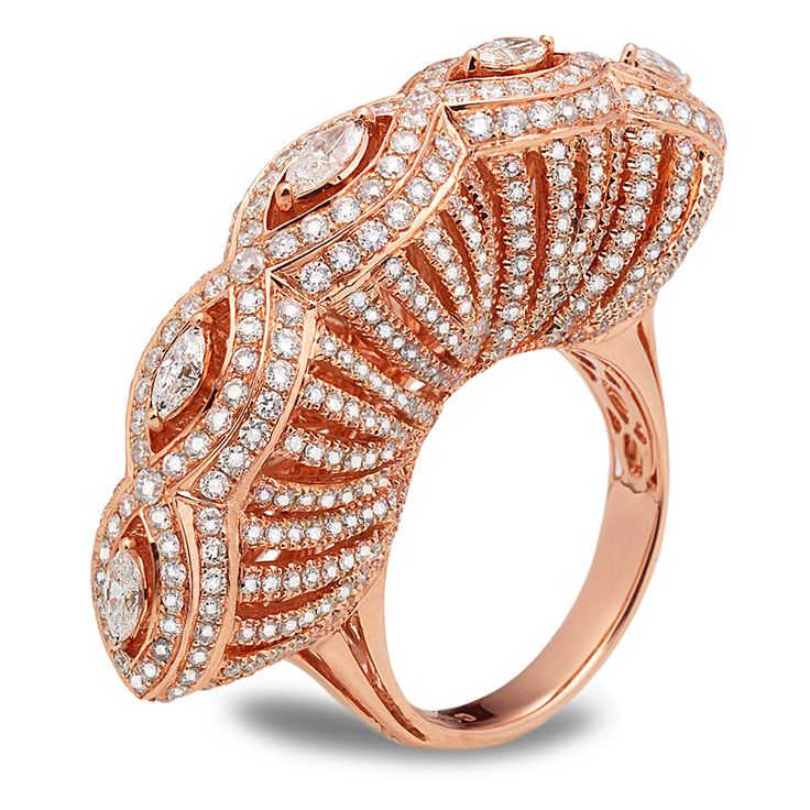 Experience Royalty in Casa Reale Jewelry #Diamonds #RoseGold